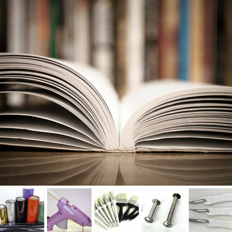 Materiali per rilegatura e attrezzi